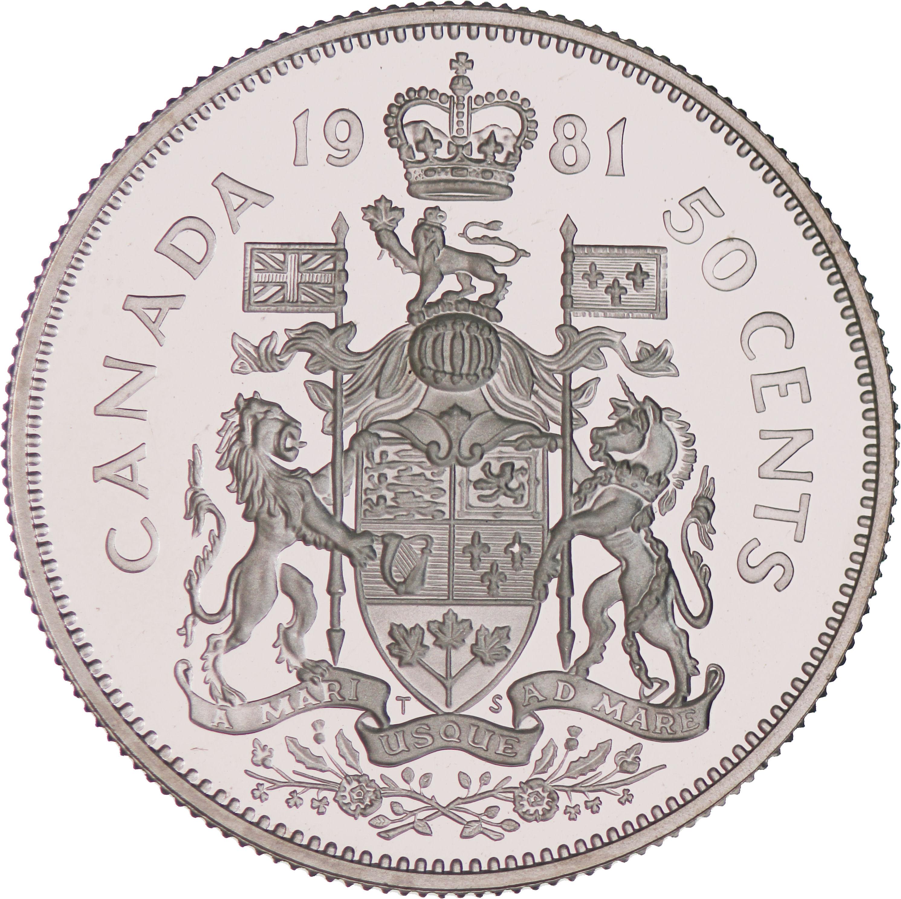 50 Cents Elizabeth Ii 2nd Portrait Canada Numista
