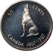 50 Cents - Elizabeth II (Confederation) -  reverse