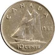10 Cents - Elizabeth II (2nd portrait; Ottawa mint) -  reverse