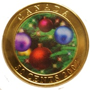50 Cents - Elizabeth II (Holiday Ornaments) – reverse