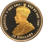 20 Dollars - Elizabeth II (George V - Armistice of  Compiègne) – obverse