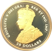 20 Dollars - Elizabeth II (George V - WWI - Great Britain) – obverse