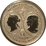 1 Dollar - Elizabeth II (Queen Victoria 200th Anniversary) – obverse
