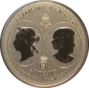 2 Dollars - Elizabeth II (Queen Victoria 200th Anniversary) – obverse
