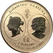 3 Dollars - Elizabeth II (Queen Victoria 200th Anniversary) – obverse