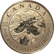 3 Dollars - Elizabeth II (Queen Victoria 200th Anniversary) – reverse