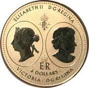 4 Dollars - Elizabeth II (Queen Victoria 200th Anniversary) – obverse