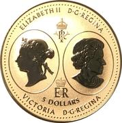5 Dollars - Elizabeth II (Queen Victoria 200th Anniversary) – obverse