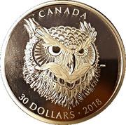 30 Dollars - Elizabeth II (The Great Horned Owl) – reverse