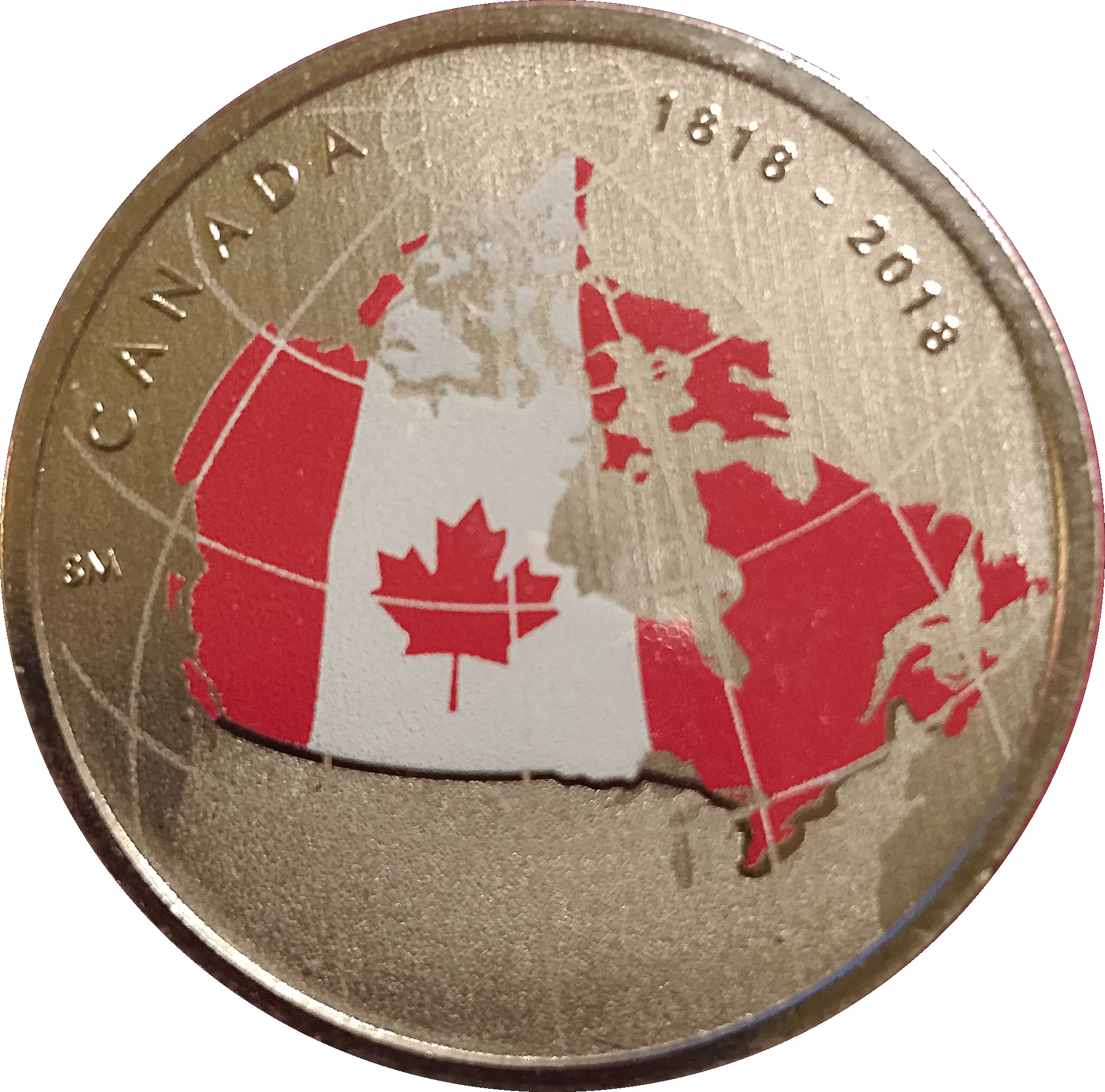 UNC directly from mint roll CANADA 2018 New 50 cents Coat of Arms of CANADA