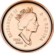 1 Cent - Elizabeth II (Golden Jubilee; magnetic) -  obverse