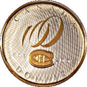 1 Dollar - Elizabeth II (Montreal Canadiens Centennial) -  reverse