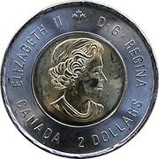 2 Dollars - Elizabeth II (D-Day; coloured) -  obverse