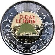 2 Dollars - Elizabeth II (D-Day; coloured) -  reverse