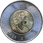 2 Dollars - Elizabeth II (D-Day; non-colourized) -  obverse