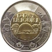 2 Dollars - Elizabeth II (D-Day; non-colourized) -  reverse
