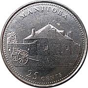 25 Cents - Elizabeth II (Manitoba) -  reverse