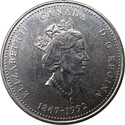 25 Cents - Elizabeth II (Newfoundland) -  obverse