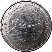 25 Cents - Elizabeth II (Newfoundland) -  reverse