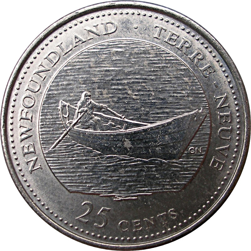 1867-1992 NL CANADA 25 Cent Newfoundland Provincial Coin from Mint Roll UNC