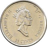 25 Cents - Elizabeth II (Freedom) – obverse