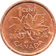 1 Cent - Elizabeth II (3rd portrait; magnetic) – reverse