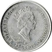 25 Cents - Elizabeth II (Canada Day) -  obverse