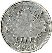 25 Cents - Elizabeth II (Canada Day) -  reverse