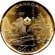 1 Dollar - Elizabeth II (Connecting A Nation) -  reverse