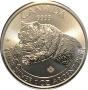 5 Dollars - Elizabeth II (1 oz. Silver Bullion Coinage; Grizzly) -  reverse
