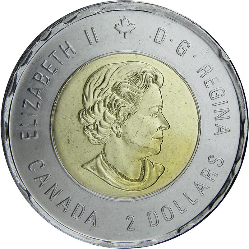 BU from Canada Mint roll 4 x 2018 $2 Toonie Colour Coins Armistice 100 Years