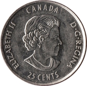 25 Cents - Elizabeth II (Stanley Cup) -  obverse