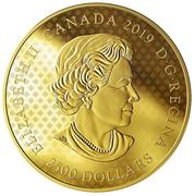 2500 Dollars - Elizabeth II (The Great Seal of the Province of Canada) -  obverse