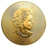 2500 Dollars - Elizabeth II (40th Anniversary of the Gold Maple Leaf) -  obverse