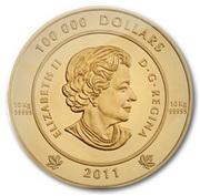 100 000 Dollars - Elizabeth II (The Spirit of Haida Gwaii) -  obverse