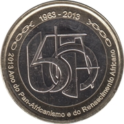 250 Escudos  (50th Anniversary of OUA) -  reverse