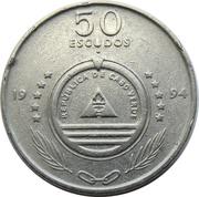 """50 Escudos (Sailing ship """"Senhor das Areias"""") – obverse"""