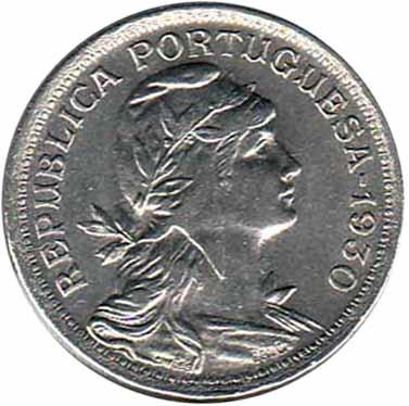 1930 PORTUGAL 50 CENTAVOS VG   NICE COIN !