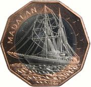 "100 Escudos (Sailship ""Madalan""; Bronze ring) -  reverse"
