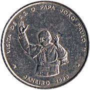 100 Escudos (Papal visit) – reverse