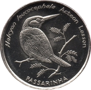 10 Escudos (Brown-headed Kingfisher) – reverse