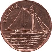 """5 Escudos (Sailboat """"Belmira"""") -  reverse"""
