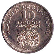 10 Escudos (Independence) – obverse
