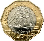"100 Escudos (Sailship ""Madalan""; Brass ring) -  reverse"