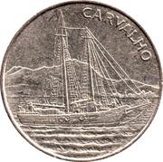 """10 Escudos (Sailing ship """"Carvalho"""") – reverse"""