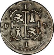 1 Real - Fernando VII (Royalist coinage) – reverse