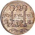 2 Reales - Fernando VII (Royalist coinage) – obverse