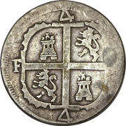 4 Reales - Fernando VII (Royalist coinage) – reverse