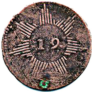 ¼ Real (Republican coinage) – obverse