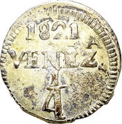 ¼ Real (Gran Colombia - Republican coinage) -  reverse